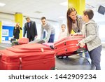 family and other passengers... | Shutterstock . vector #1442909234