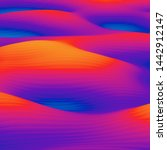 abstract colorful wavy... | Shutterstock . vector #1442912147