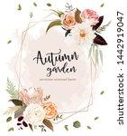 geometric floral label frame... | Shutterstock .eps vector #1442919047