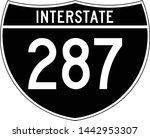 interstate highway 287 road...   Shutterstock .eps vector #1442953307