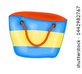 striped summer bag for beach in ... | Shutterstock . vector #1442982767