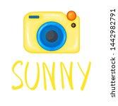 summer design sticker with...   Shutterstock . vector #1442982791