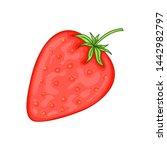 strawberry in cartoon style  ...   Shutterstock . vector #1442982797