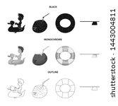bitmap design of pool and... | Shutterstock . vector #1443004811