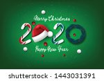 merry christmas and happy new... | Shutterstock .eps vector #1443031391