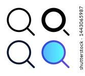 simple search icon vector...