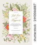 summer garden. flower... | Shutterstock .eps vector #1443066887