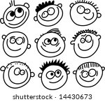smilie faces | Shutterstock . vector #14430673
