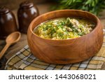 traditional soup with barley... | Shutterstock . vector #1443068021