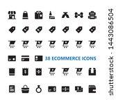 e commerce marketplace icon set ...