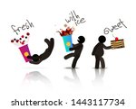 web icons of people. figures of ... | Shutterstock . vector #1443117734