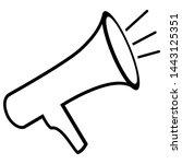 megaphone  promotion symbol... | Shutterstock .eps vector #1443125351