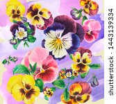 Bouquet Of Colored Pansies ...