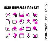 user interface icon set vector...