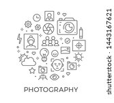 photography symbol design.... | Shutterstock .eps vector #1443167621
