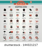 shopping icons vector | Shutterstock .eps vector #144321217
