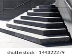 Steps On A Public Walkway