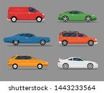 set of isolated cars of... | Shutterstock .eps vector #1443233564