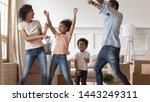 happy african american family... | Shutterstock . vector #1443249311