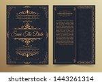 luxury vintage golden vector... | Shutterstock .eps vector #1443261314
