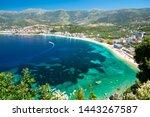 beautiful view on Himare on albanian riviera, Albania