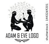 adam and eve. logo vector for... | Shutterstock .eps vector #1443269201
