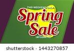 spring sale design background...   Shutterstock .eps vector #1443270857
