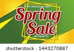 spring sale design background...   Shutterstock .eps vector #1443270887