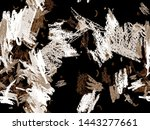 Stock photo abstract header pattern cute big artistic geometric seamless pattern on black and white background 1443277661