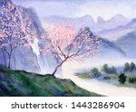 Springtime Dusk Watercolour...