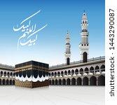 kaaba for hajj steps in al... | Shutterstock .eps vector #1443290087