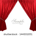 red theater curtain background | Shutterstock . vector #144331051