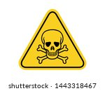 isolated skull and crossbones ... | Shutterstock .eps vector #1443318467