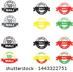 made in mali collection of... | Shutterstock .eps vector #1443322751