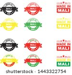 made in mali collection of... | Shutterstock .eps vector #1443322754