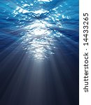 an underwater scene with sun... | Shutterstock . vector #14433265