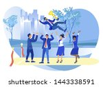 office situation of business... | Shutterstock .eps vector #1443338591