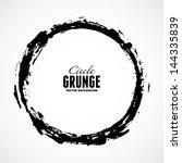 vector ink grunge circle frame | Shutterstock .eps vector #144335839