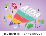 aida acronym of attention... | Shutterstock .eps vector #1443400304