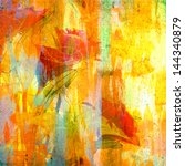 Grunge Colorful Painting With...