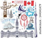 canada illustration | Shutterstock .eps vector #144341479