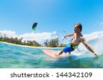kite surfing  fun in the ocean  ... | Shutterstock . vector #144342109