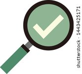 magnifying glass icon drawn in ...