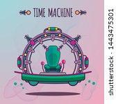 time machine future vector... | Shutterstock .eps vector #1443475301