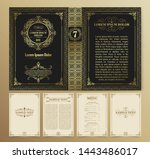vintage book layouts and design ... | Shutterstock .eps vector #1443486017