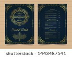 menu layout with ornamental... | Shutterstock .eps vector #1443487541
