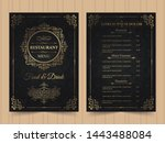 menu layout with ornamental... | Shutterstock .eps vector #1443488084