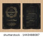 menu layout with ornamental... | Shutterstock .eps vector #1443488087