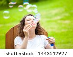 young woman having fun and... | Shutterstock . vector #1443512927