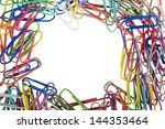 close up of assorted paper clips | Shutterstock . vector #144353464